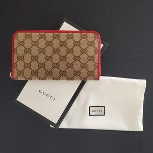 Gucci Canvas Zip Around Wallet